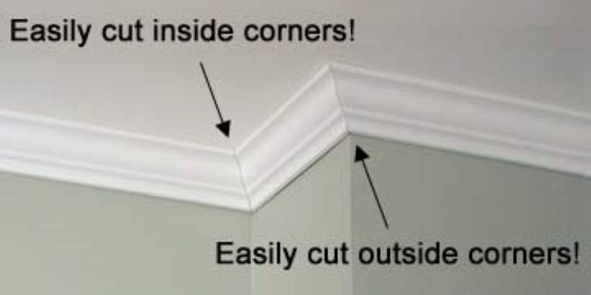 How to cut crown molding inside and outside corners