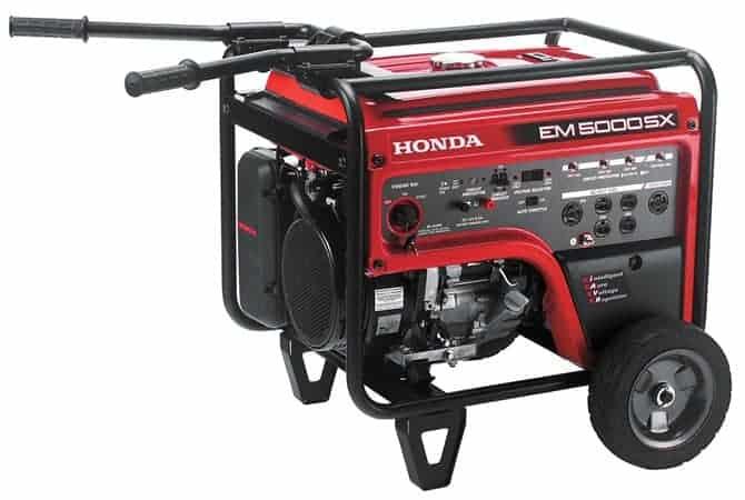 Honda EM5000SXK3 660530 - 5000 watt generator electric start