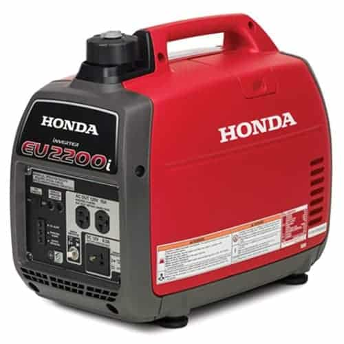 Honda EU2200i quiet generator -- best generator for travel trailer